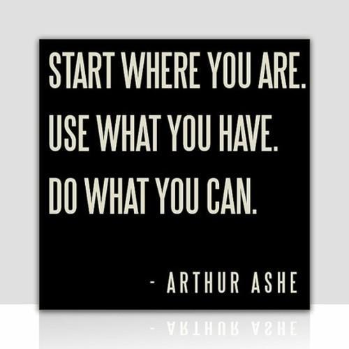 It really is that simple. :) You don't start with a marathon: you start with a walk around the block.  You don't need fancy equipment: your body is enough on its own.  You don't need to be fit to get fit: you get there by doing a little more today than you did yesterday. Don't make it more complicated than it has to be! One step and one day at a time. :)