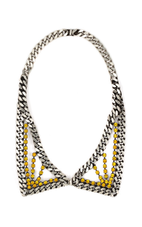what-do-i-wear:  Janis Savitt: Sunburst Chain Link Collar Necklace available to order from m'oda o'perandi