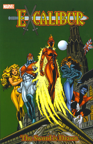 comicbookcovers:  Excalibur: The Sword Is Drawn, April 1988, cover by Alan Davis and Paul Neary  Excalibur #1 may have been the first #1 I bought as a new issue. This is giving me nostalgia and feelings and such.