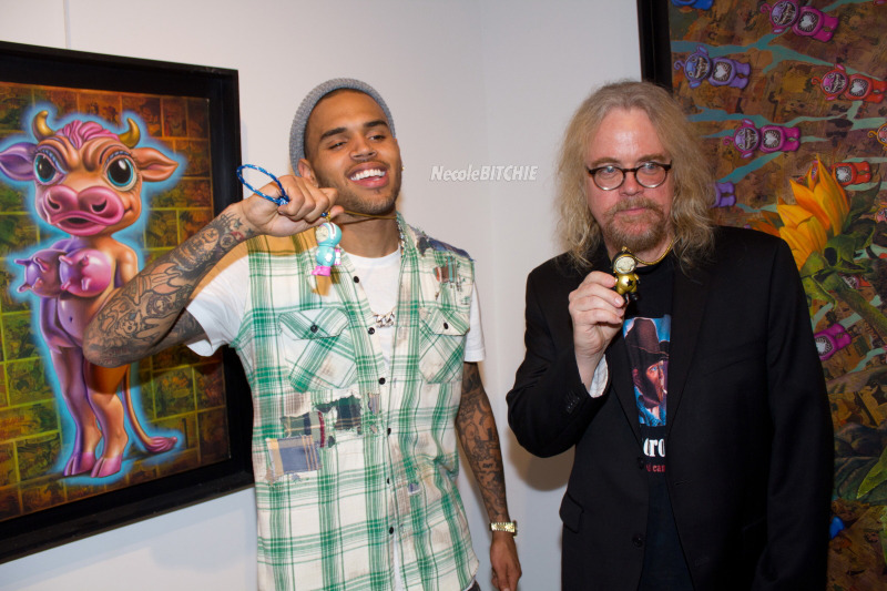 Chris Brown Art Exhibit