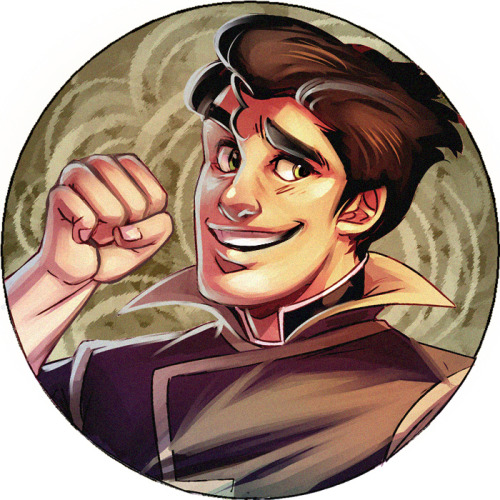 stripesandteeth:  And finally a button for Bolin. I am not putting this much detail in the rest of my buttons. >:I   Baby Bolin<3
