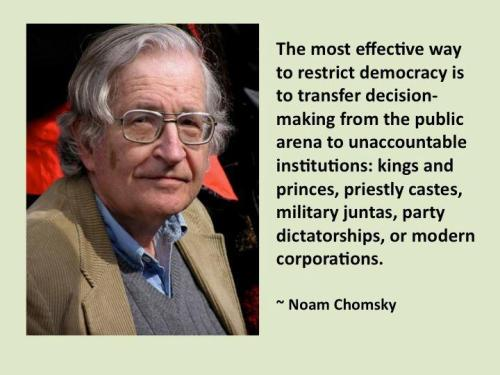 Chomsky on restricting democracy