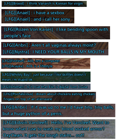 LFG chatters say the darndest things.