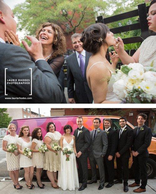 ELENA & BLAKE GET MARRIED: This was an amazing wedding last weekend in Brooklyn — complete with rainbow! Elena is a performer and so are are many of her friends so there were lots of fabulous dance moves! VENUE: The Green BuildingOFFICIANT: Allison HallPLANNER & CATERER: Naturally DeliciousFLOWERS: Sprout Home BAND: The Hot SardinesDJ: KmazingMAKEUP/HAIR: Anna Mains