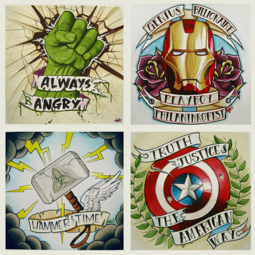 Avengers, Assemble! Collect all 4 prints here, or get one mega print!