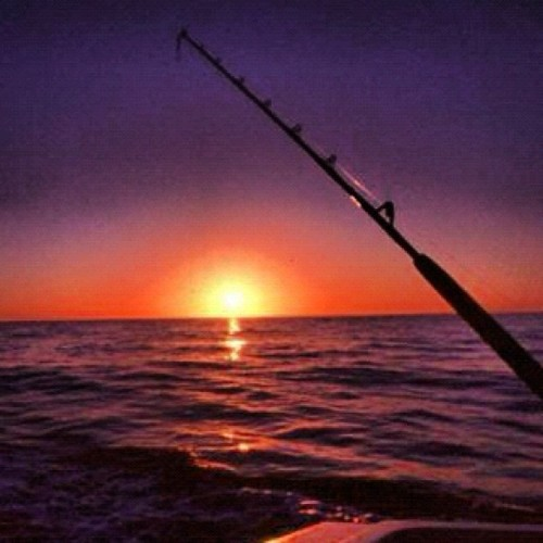 Fishing and the sunset (Taken with Instagram)