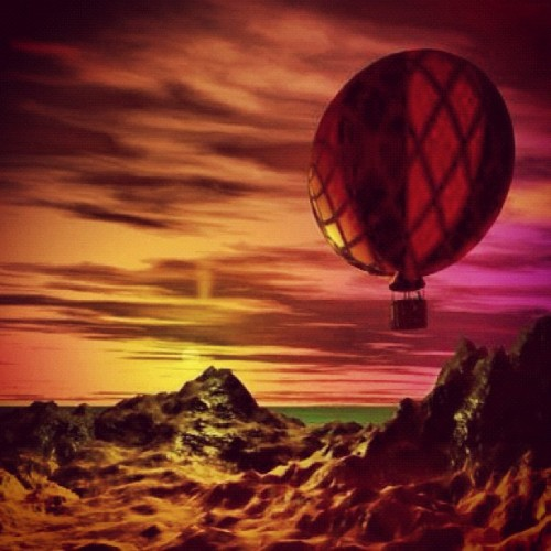 Big Ballon and sunset (Taken with Instagram)