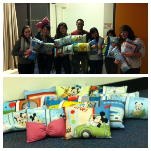 Made pillows to donate to Children's Hospital!