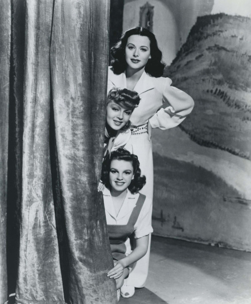 hollywoodscrapbook:  Hedy Lamarr, Lana Turner and Judy Garland