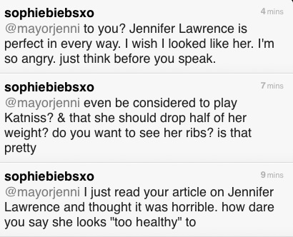 just send these tweets to the writer of that horrible article. [bottom to top] I could write SO much more if twitter didn't only allow 140 characters.. TWEET HER: @mayorjenni