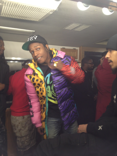 Rocky thinkin He a PMF in that New Jeremy Scott.