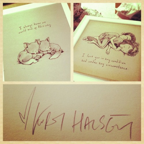 So in love with my @kurthalsey prints. #kurthalsey #cute #art #signed (Taken with Instagram)