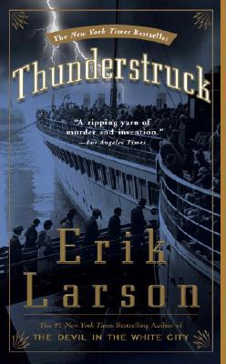Thunderstruck, by Erik Larson. Paperback. Northbound D Line. Tuesday morning.