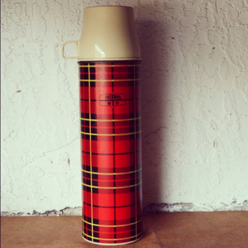 Vintage plaid thermos available at TopShelfVintage1.etsy.com