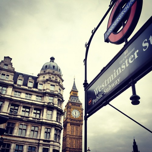 #westminster #underground #bigben #london #uk #parliament (Taken with Instagram)