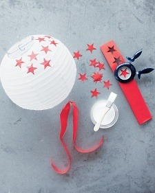 DIY: 4th of July Paper Lanterns via Martha Stewart