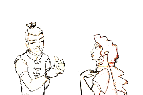 Sokka telling Miriam all about ~Water Tribe~ Cause Moses and his fam would totally be in it! ((It's a Wednesday, and Wednesday is Wishful W-Crossover WIP.))