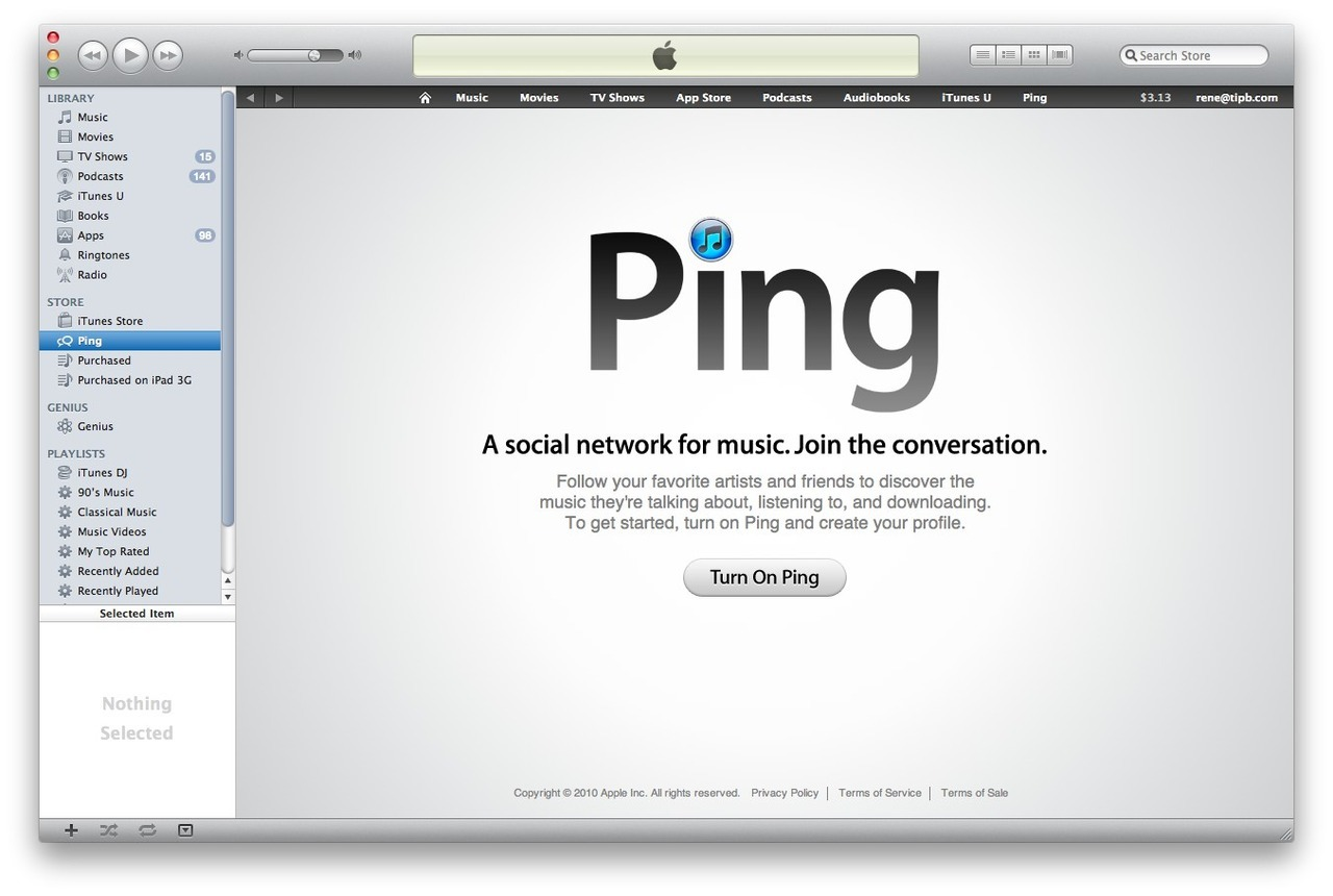 shortformblog:  iTunes Ping about to shut down due to complete customer disinterest: OK, who's uncontrollably sobbing?