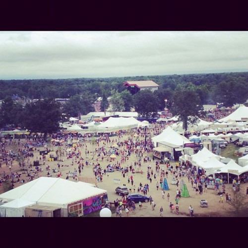 View of Bonnaroo from the ferris wheel (Taken with Instagram)