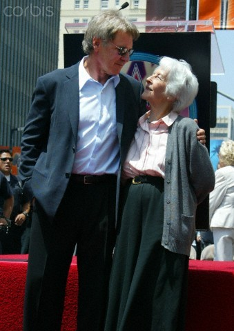Harrison Ford & His Mother | Hollywood Walk of Fame (2003)