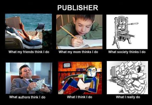 Being a publisher … hmm.