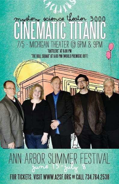 it REALLY sucks i wont be going to Cinematic Titanic this time around — and, they're doing a World Premiere [NEW] Riff…