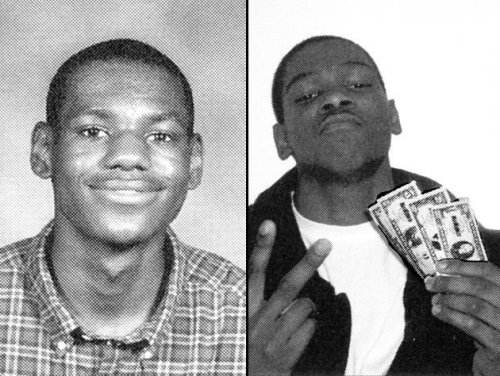 simplybasketball:  Lebron and KD in HS
