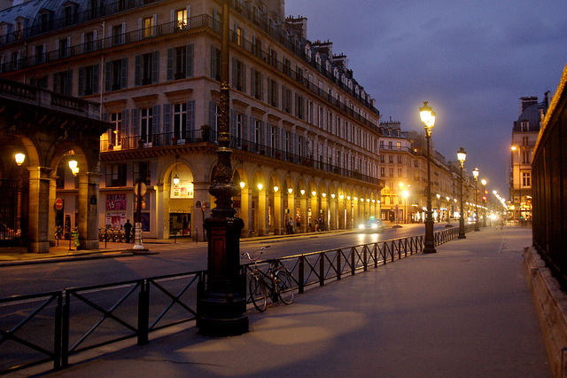 | ♕ |  Paris evening - Rue de Rivoli  | by © Everita