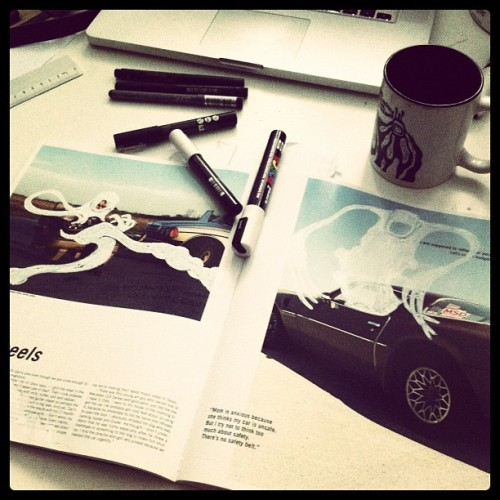 tadmc:  more of carl's cars, double page, first layer. (Wurde mit Instagram aufgenommen)