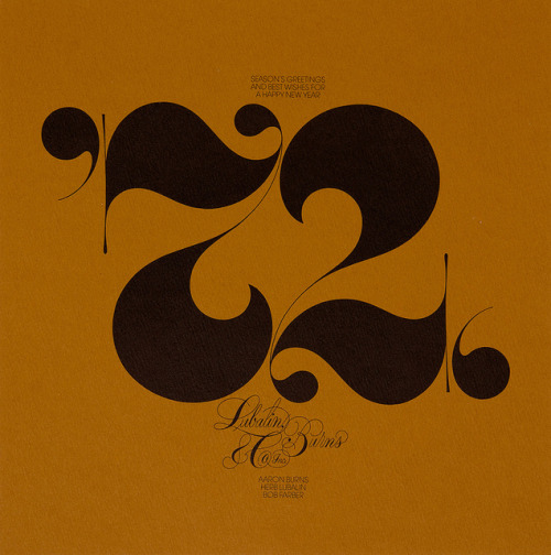 Lubalin, Burns & Co by unit_editions on Flickr.