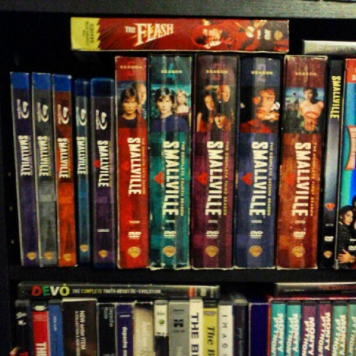 captaincook:  Smallville DVDs & blu-rays, among other disc sets (Taken with Instagram)