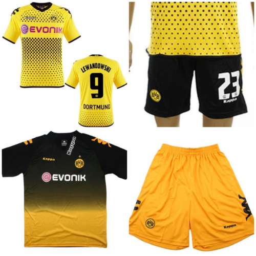 2011-2012 Borussia Dortmund Home and Away Jerseys and Shorts.  $75 (no name, no number). $80 (with name and number).  Size: S, M, L, XL