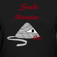 sushimonsterclothing:  Sushi Monster Tshirts now Available on in our Shop on spreadshirts  http://sushimonster.spreadshirt.com/  http://sushimonster.spreadshirt.com/sushi-monsters-men-A10147319/customize/color/2