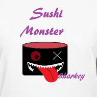 sushimonsterclothing:  Sushi Monster Tshirts now Available on in our Shop on spreadshirts  http://sushimonster.spreadshirt.com/  http://sushimonster.spreadshirt.com/sushi-monsters-women-A10147299/customize/color/1