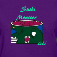 sushimonsterclothing:  Sushi Monster Tshirts now Available on in our Shop on spreadshirts  http://sushimonster.spreadshirt.com/  http://sushimonster.spreadshirt.com/sushi-monsters-women-A10146513/customize/color/134