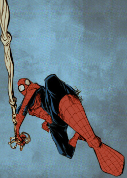 Spider-Man illustration by Doug Hills. May, 2012.