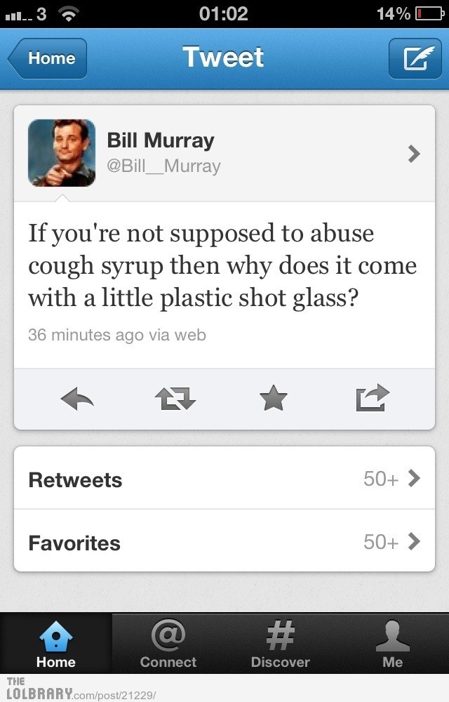 Bill Murray has a Strong PointFollow this blog for the best new funny pictures every day