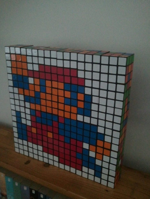 A collection of really great 8bit rubik's cube Nintendo art!