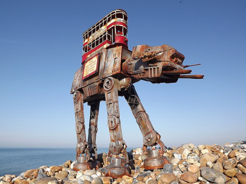 Steampunk AT-AT: THE BRIGHTON AND HOVE WALKER by robotgeisha on Flickr.