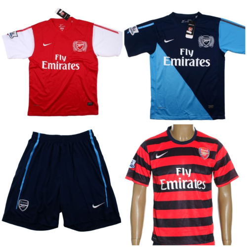 2011-2012 Arsenal Home and Away jerseys and shorts also the 2012-2013 Arsenal Away jersey and shorts.  $75 (no name, no number). $80 (with name and number).  Size: S, M, L, XL