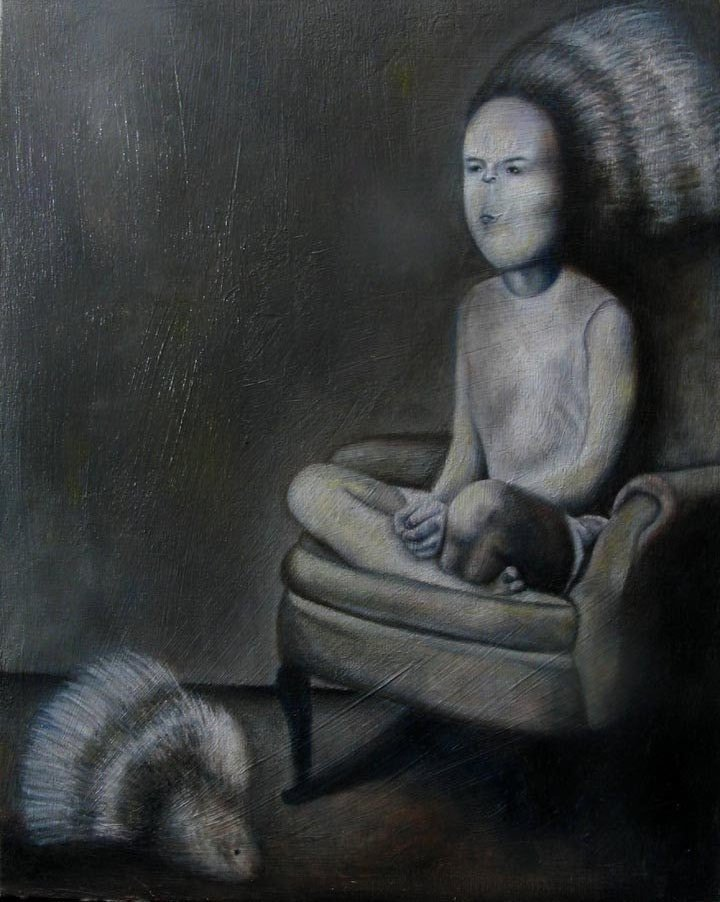 Jana Paleckova - Porcupine Head, 2010                  Painting: Oil