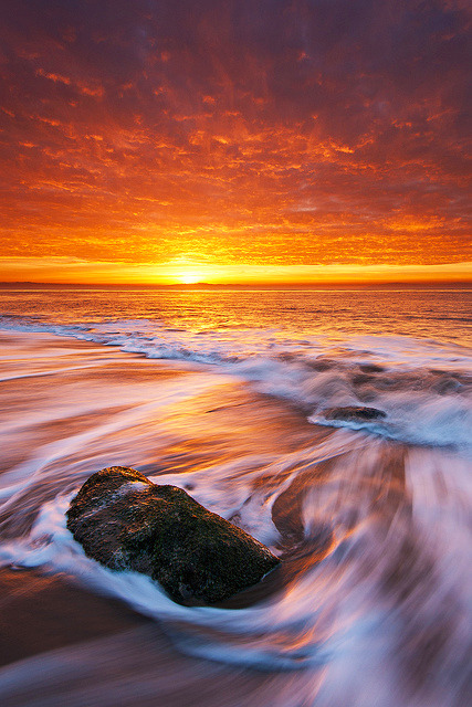 acureforreality-:  Simple Sunrise #2 - Santa Cruz, California by Jim Patterson Photography on Flickr.