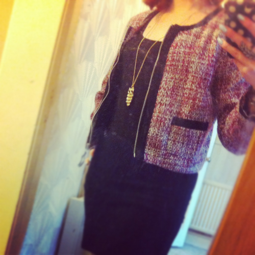 My beautiful (fake) Chanel jacket :D it makes me happy when I wear it :) and then I think about how much it cost me and I smile even more….I am becoming a Bargain Queen :) hehehe