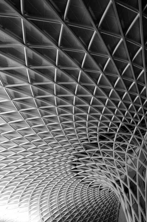 Roof detail, Kings Cross station extension. London, June 2012.