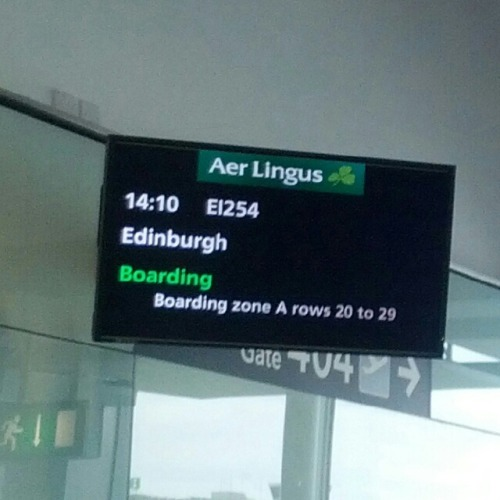 Boarding for Edinburgh