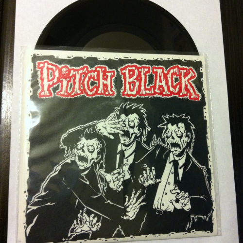 "Pitch Black ""Half Empty"" b/w ""Undefeated"" and ""No Leaders""  1st pressing, 3/300  Cheetah's Records 2000"