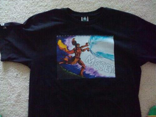 Shirt design by me! my kamehameha drawing finally got on a shirt! my dream came true :3 now if only people would wanna buy this to rock it out~ other stuff by this brand: http://sickshit.bigcartel.com/