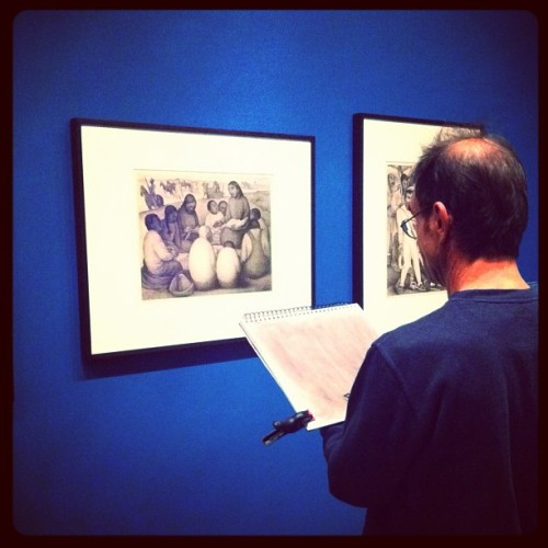 Disegni su disegni di Diego Rivera al MoMA, NY #photoadayjune #day13 #art #notfinished (Scattata con Instagram) / Drawings based on drawings by Diego Rivera, MoMA, NY.