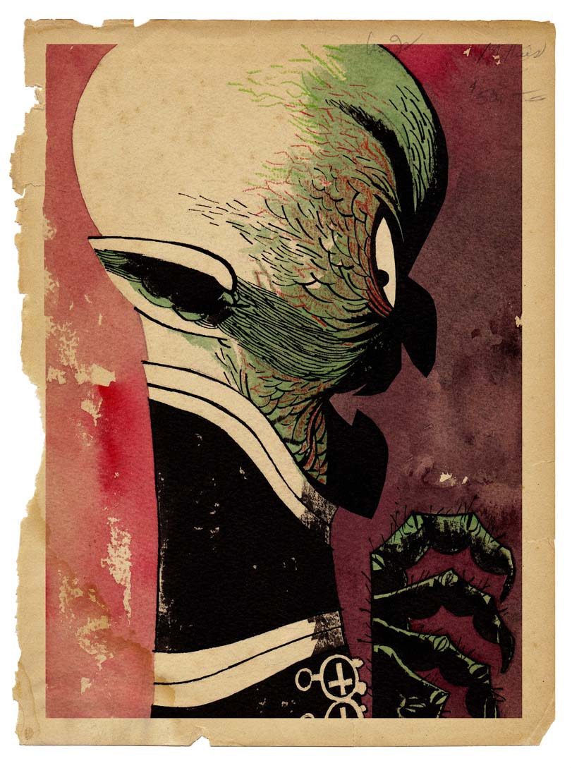 aapstra:  Nosferatu by Jamie Hewlett. Hey you guys, Jamie Hewlett is on Twitter and he is tweeting sweet drawings like this one!