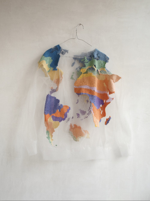 IÑIY SANCHEZ'S SUSTAINABLE EARTH SWEATER. via: verluste